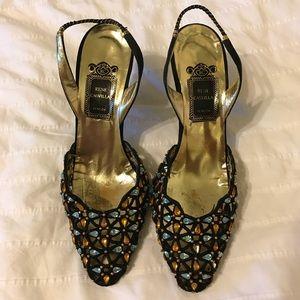 Rene Caovilla Vintage Sling Back Heels